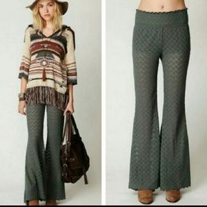 Free People Olive Malibu Lace Pants